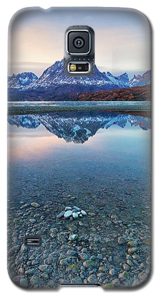 Icebergs And Mountains Of Torres Del Paine National Park Galaxy S5 Case by Phyllis Peterson