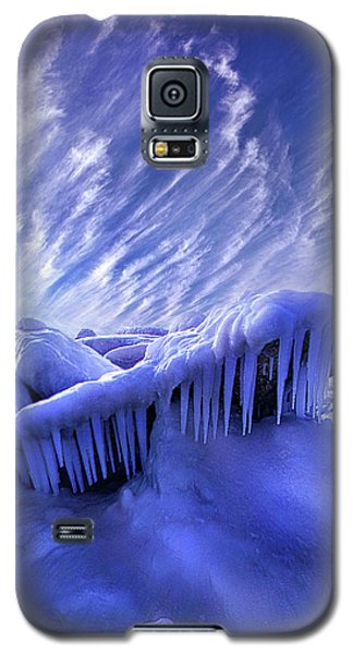 Galaxy S5 Case featuring the photograph Iced Blue by Phil Koch