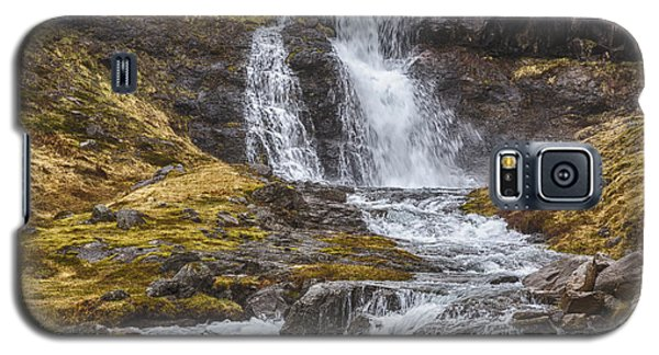 Galaxy S5 Case featuring the tapestry - textile Iceland Fjord 2 by Kathy Adams Clark