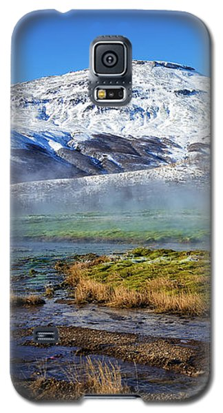 Galaxy S5 Case featuring the photograph Iceland Landscape Geothermal Area Haukadalur by Matthias Hauser