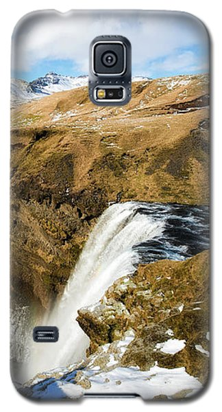 Iceland Landscape With Skogafoss Waterfall Galaxy S5 Case by Matthias Hauser