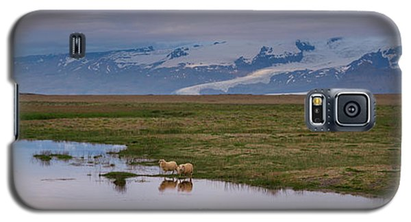 Iceland Sheep Reflections Panorama  Galaxy S5 Case