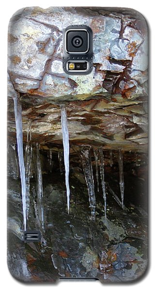 Galaxy S5 Case featuring the photograph Icicle Art by Doris Potter