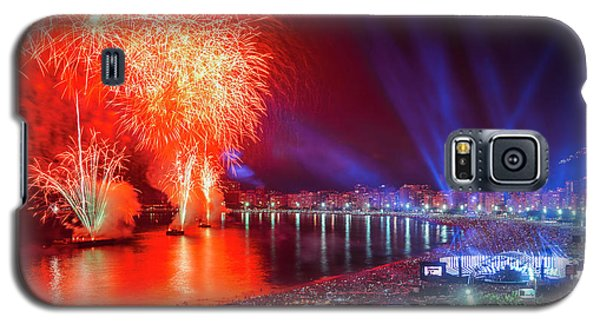 Iconic And Breath-taking Fireworks Display On Copacabana Beach,  Galaxy S5 Case