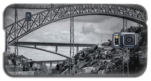 Iconic Bridges Of Porto In Black And White  Galaxy S5 Case
