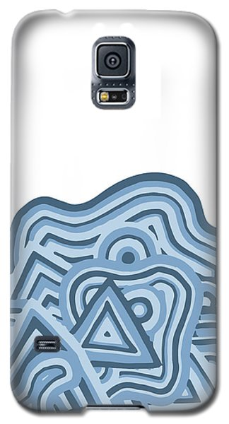 Galaxy S5 Case featuring the drawing Icy Fun by Jill Lenzmeier