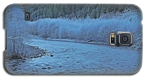 Galaxy S5 Case featuring the photograph Icy River by Jack Moskovita