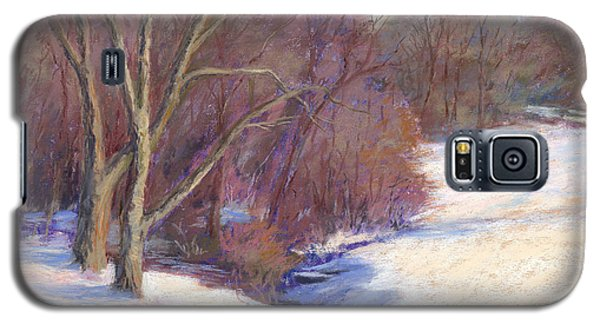 Galaxy S5 Case featuring the painting Icy Stream by Vikki Bouffard