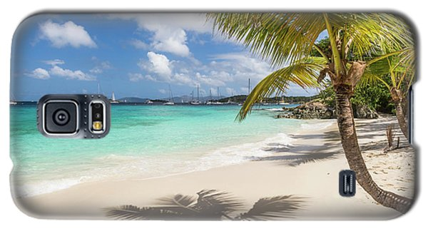 Galaxy S5 Case featuring the photograph Idyllic Salomon Beach by Adam Romanowicz