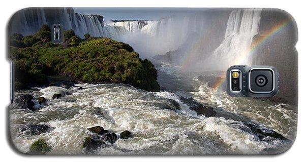 Iguassu Falls With Rainbow Galaxy S5 Case
