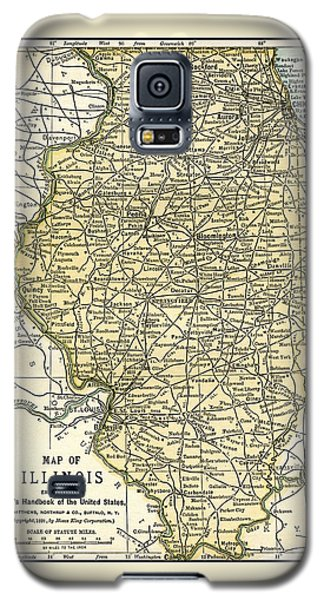 Illinois Antique Map 1891 Galaxy S5 Case