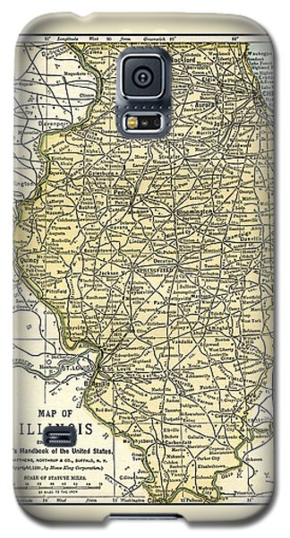 Illinois Antique Map 1891 Galaxy S5 Case by Phil Cardamone