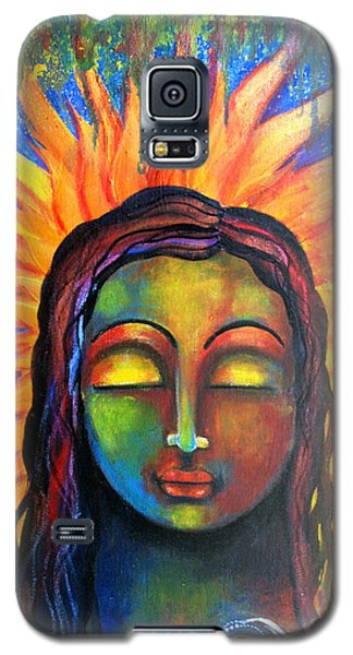 Galaxy S5 Case featuring the mixed media Illuminated By Her Own Radiant Self by Prerna Poojara