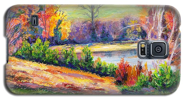 Galaxy S5 Case featuring the painting Illuminating Colors Of Fall by Lee Nixon