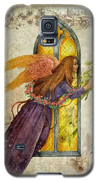 Illustrated Angel And Lily Galaxy S5 Case by Judith Cheng