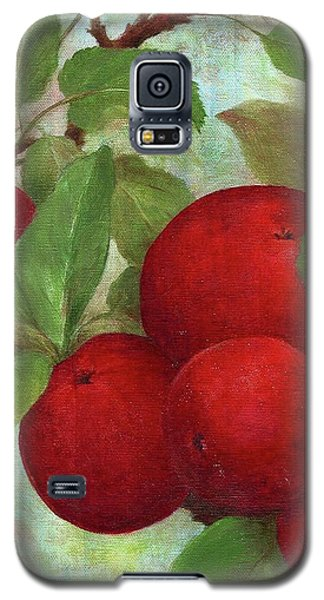Galaxy S5 Case featuring the painting Illustrated Apples by Judith Cheng