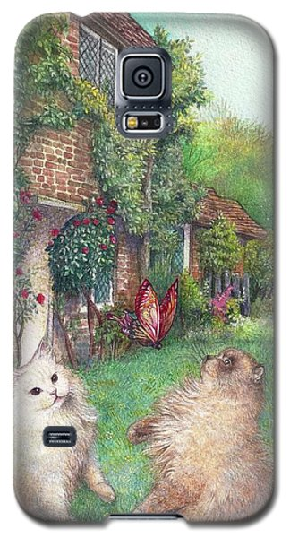 Illustrated Cats In English Cottage Garden Galaxy S5 Case