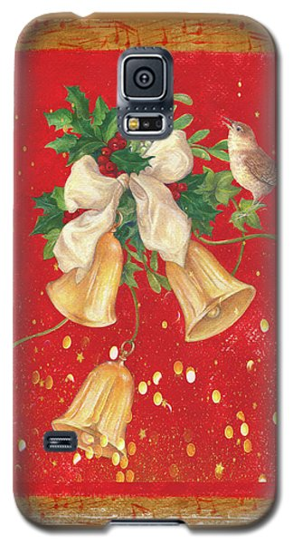 Illustrated Holly, Bells With Birdie Galaxy S5 Case