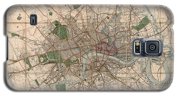Illustrated Plan Of London And Its Environs - Map Of London - Historic Map - Antique Map Of London Galaxy S5 Case