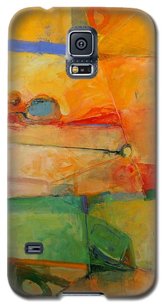 Galaxy S5 Case featuring the painting I'm In Corn  by Cliff Spohn