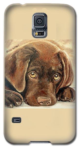 I'm Sorry - Chocolate Lab Puppy Galaxy S5 Case by Julie Brugh Riffey