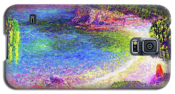 Imagine, Meditating In Beautiful Bay,seascape Galaxy S5 Case by Jane Small