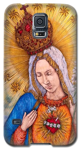 Immaculate Heart Of Virgin Mary Galaxy S5 Case by Kent Chua