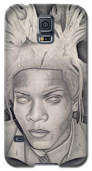 Immortalizing In Stone Jean Michel Basquiat Drawing Galaxy S5 Case