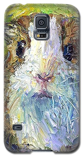 Colorful Galaxy S5 Case - Impasto Impressionistic  Guinea Pig Art by Svetlana Novikova
