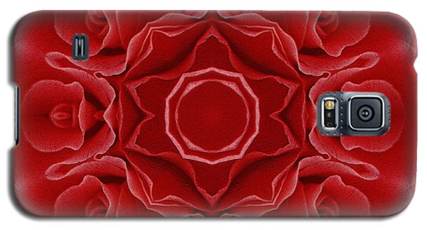 Imperial Red Rose Mandala Galaxy S5 Case