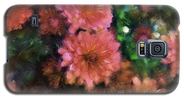 Bronze And Pink Mums Galaxy S5 Case