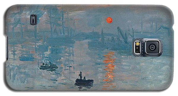Boat Galaxy S5 Case - Impression Sunrise by Claude Monet