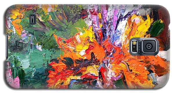 Impressionist Canna Flower Oil Painting  Galaxy S5 Case