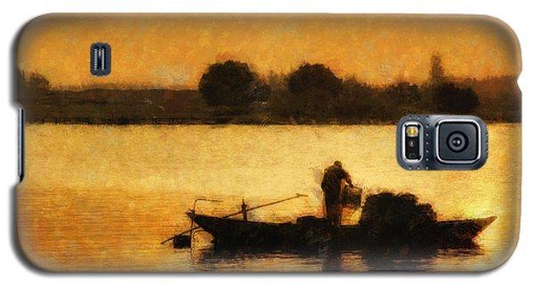 Galaxy S5 Case featuring the digital art Impressionist Dawn by Cameron Wood