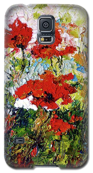 Impressionist Red Poppies Provencale Galaxy S5 Case by Ginette Callaway