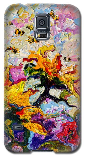 Impressionist Sunflowers And Bees Galaxy S5 Case