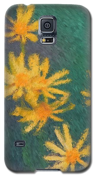 Impressionist Yellow Wildflowers Galaxy S5 Case