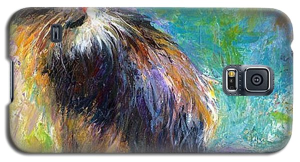 Impressionistic Tuxedo Cat Painting By Galaxy S5 Case