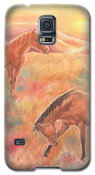 Galaxy S5 Case featuring the painting Impressions At Sunset by Elizabeth Lock