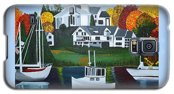 Galaxy S5 Case featuring the painting Impressions Of New England Two by Donna Blossom