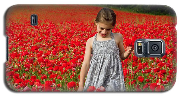 In A Sea Of Poppies Galaxy S5 Case