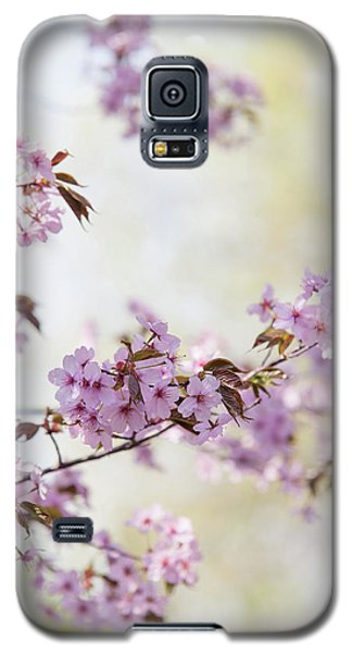Galaxy S5 Case featuring the photograph In Bloom. Spring Watercolors by Jenny Rainbow