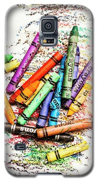 In Colours Of Broken Crayons Galaxy S5 Case