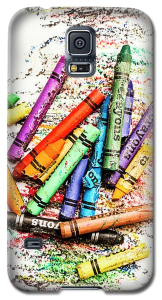 In Colours Of Broken Crayons Galaxy S5 Case