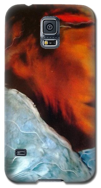 Galaxy S5 Case featuring the painting In Cool Clear Waters by FeatherStone Studio Julie A Miller