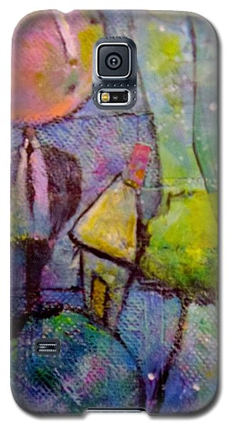 Galaxy S5 Case featuring the painting In His World by Eleatta Diver