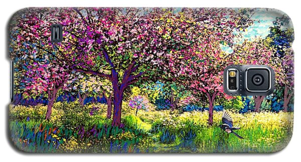 In Love With Spring, Blossom Trees Galaxy S5 Case by Jane Small