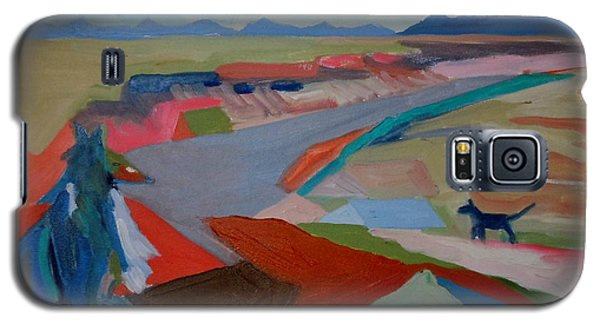 Galaxy S5 Case featuring the painting In My Land by Francine Frank