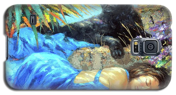 Galaxy S5 Case featuring the painting In One's Sleep by Dmitry Spiros
