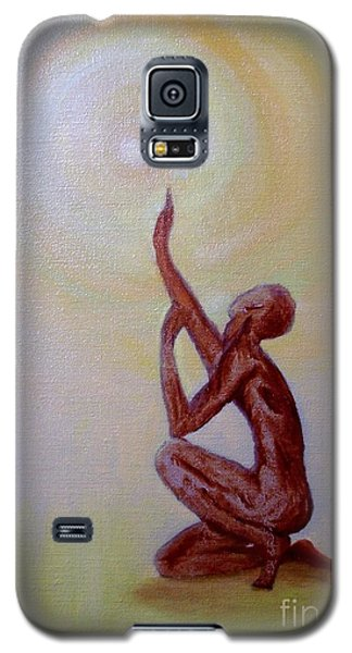 Galaxy S5 Case featuring the painting In The Beginning by Marlene Book